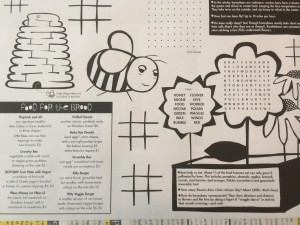 Sleepy Bee Kids Menu