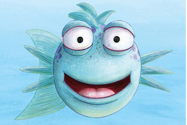 Smile pout pout fish at blue manatee children 39 s bookstore for The pout pout fish