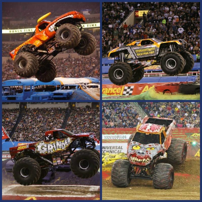 Monster Jam collage