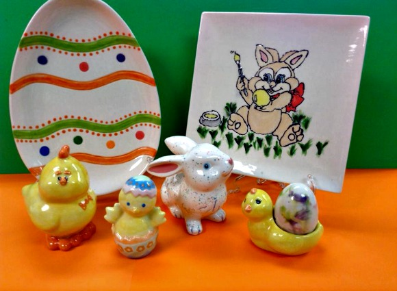 Make your own Easter decorations at The Pottery Place in White Oak on Friday, March 28.