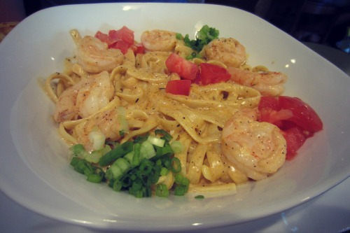 Hebron Grille Cajun Shrimp Alfredo