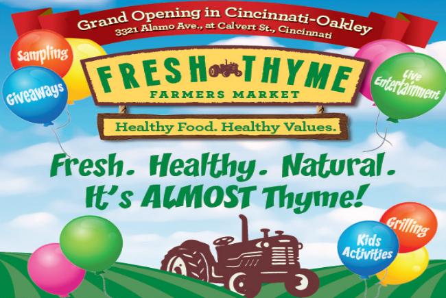 Fresh Thyme Farmers Market opens in Oakley August 27 – GIVEAWAY