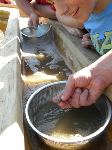 Old West Festival panning for gold