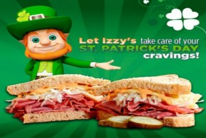 Celebrate St. Patrick's Day with Izzy's! GIVEAWAY