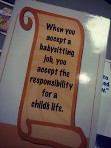 Safe Sitter Responsibility