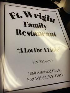 Fort Wright Family Restaurant Menu