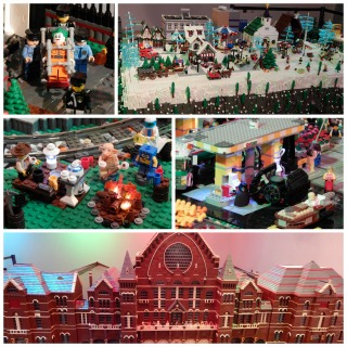 Newport Express Holiday Depot LEGO Collage
